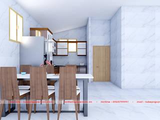 Tủ bếp gia đình hiện đại bởi Nội thất Nguyễn Kim