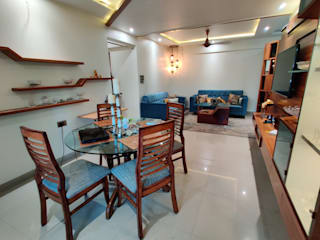 2BHK FOR MR &MRS VASUDEVAN Minimalist dining room by design connect studio Minimalist