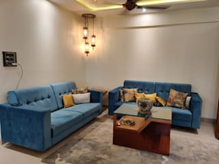 2BHK FOR MR &MRS VASUDEVAN Classic style living room by design connect studio Classic