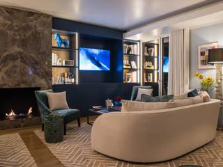 Novo Apartamento de Luxo em Lisboa arquitectura e Design de Interiores.: Salas de estar  por Inêz Fino Interiors, LDA,Moderno