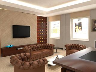 Denizli'de Bir Ofis Projesi Kalya İç Mimarlık \ Kalya Interıor Desıgn Modern