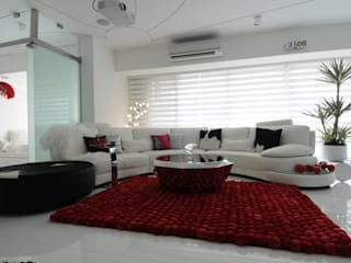 high end residential project at malad Modern living room by Mybeautifulife Modern