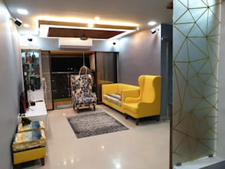 kandivali east 3bhk Classic style living room by Clickhomz Classic