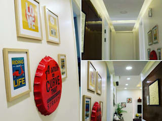 Modern Corridor, Hallway and Staircase by The_Yellow_Portal Modern