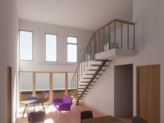 ミニマルデザインの リビング の Contreras Arquitecto ミニマル