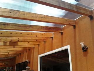 pergolas de madera Jardines minimalistas de LUMZA SA DE CV Minimalista