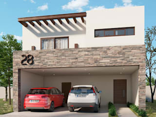 Palo Blanco Residencial Casas minimalistas de VillaSi Construcciones Minimalista