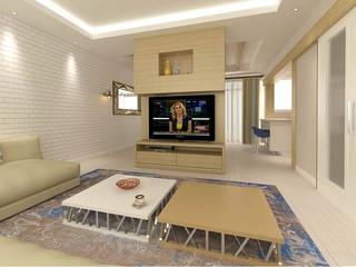 Salones de estilo  de KALYA İÇ MİMARLIK \ KALYA INTERIOR DESIGN, Rústico