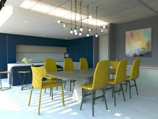 Kalya İç Mimarlık \ Kalya Interıor Desıgn Dining room میٹل Metallic/Silver