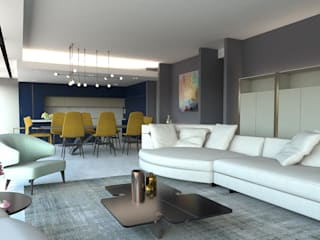 Modern living room by KALYA İÇ MİMARLIK \ KALYA INTERIOR DESIGN Modern