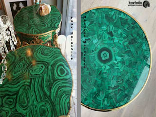 Stonesmiths - Redefining Stone-Age Living roomSide tables & trays Stone Green