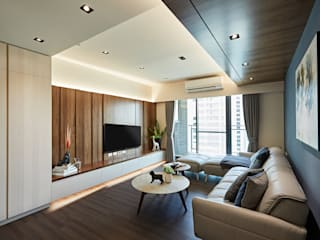 我的夢想家 现代客厅設計點子、靈感 & 圖片 根據 安提阿設計有限公司 現代風