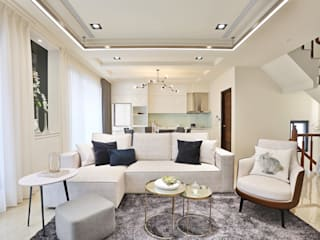 美麗新世界 现代客厅設計點子、靈感 & 圖片 根據 安提阿設計有限公司 現代風