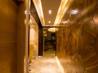S Residence Modern corridor, hallway & stairs by Design Radiance Modern