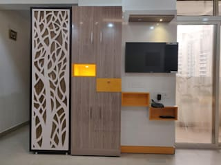 2 bhk flat Modern dining room by Design Kreations Modern