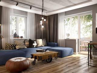Mieszkanie w Oleśnicy Industrialny salon od Nevi Studio Industrialny
