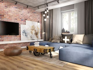Industrial style living room by Nevi Studio Industrial