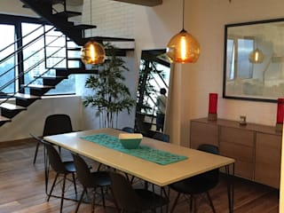 APARTMENT CSF Industrial style dining room by DE LEON PRO Industrial