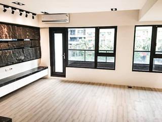 現代混搭風水宅 现代客厅設計點子、靈感 & 圖片 根據 大吉利室內裝修設計工程有限公司 現代風