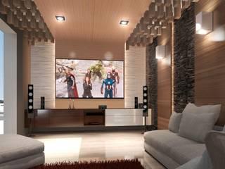 DISEÑO HABITACIONAL: Salas de estilo  por SKETCH ARQUITECTOS, Moderno