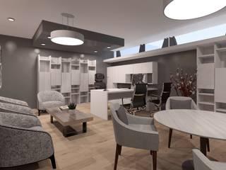 OFICINAS: Oficinas y tiendas de estilo  por SKETCH ARQUITECTOS, Minimalista