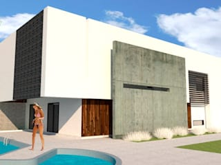 Single family home by CARLOSSAENZ ARQUITECTO, Minimalist