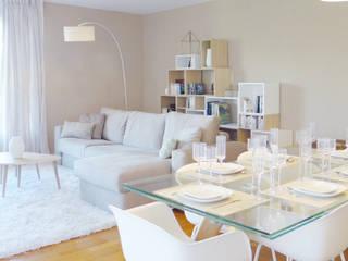 SABLE BLANC | Une douceur de vivre Salle à manger originale par Skéa Designer Éclectique