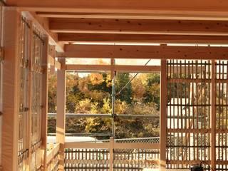 岐阜の石場建て[工事中]: 水野設計室が手掛けた家です。,