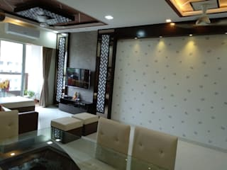 Seema Kandivali east 2bhk Classic style living room by Clickhomz Classic