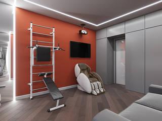 Ruang Olahraga Minimalis Oleh Дизайн студия 'Чехова и Компания' Minimalis
