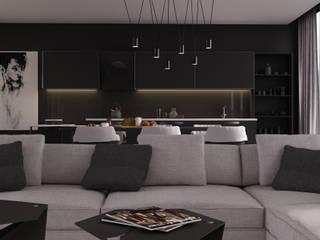 VICMA-design 现代客厅設計點子、靈感 & 圖片 Wood effect