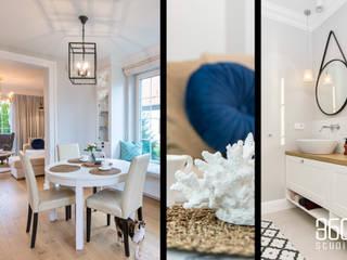 Dom w Pępowie Wiejska łazienka od Studio 360 Wiejski