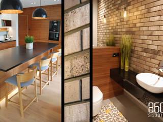 Dom w Kolbudach Nowoczesna kuchnia od Studio 360 Nowoczesny