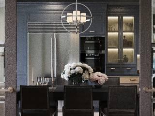 Гостиная в американском стиле Гостиные в эклектичном стиле от VERA KORCHAGINA design Эклектичный