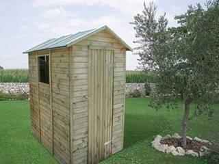 GiordanoShop 花園溫室與大帳棚 木頭 Brown