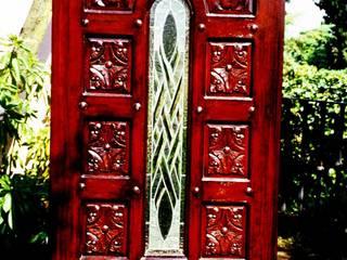 Oleh Puerta de fibra de vidrio imitacion madera Klasik