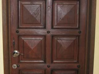 Puertas y accesorios de fibra de vidrio de Puerta de fibra de vidrio imitacion madera Clásico