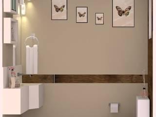 Anny Maciel Interiores - Casa Cor de Riso Modern clinics Wood effect