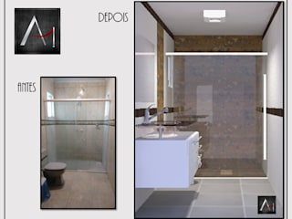 Banheiro Romântico Anny Maciel Interiores - Casa Cor de Riso