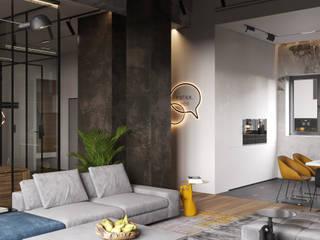 Ok loft Гостиная в стиле лофт от Cartelle Design Лофт