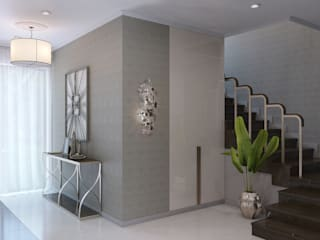 Wide Design Group Classic style corridor, hallway and stairs