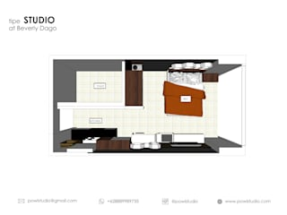 Beverly Honeycomb Tipe Studio Apartment Oleh POWL Studio Eklektik
