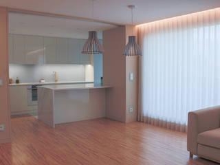 Remodelação apartamento Salas de jantar modernas por bkx arquitectos Moderno