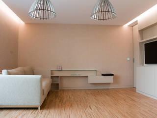 Remodelação apartamento Salas de estar modernas por bkx arquitectos Moderno