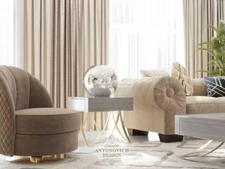 Элитные апартаменты в Атырау: Гостиная в . Автор – Студия Luxury Antonovich Design,