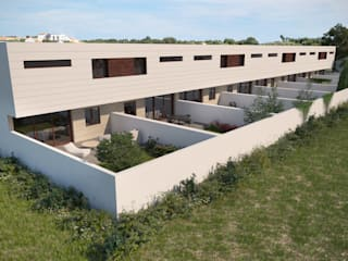 VIVIENDAS DE DISEÑO EN ILLESCAS, TOLEDO: Jardines de estilo  de Agoin, Moderno