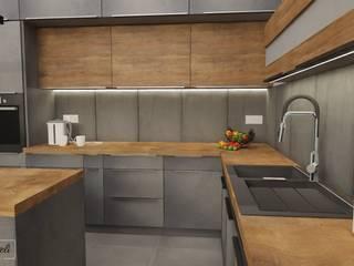 Projekt kuchnia : styl , w kategorii Kuchnia na wymiar zaprojektowany przez Dekoreveli Pracownia Projektowa,