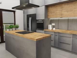 Projekt kuchnia : styl , w kategorii Kuchnia zaprojektowany przez Dekoreveli Pracownia Projektowa,
