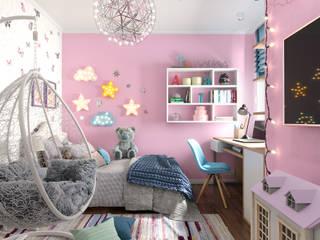 Детская для девочки, любящей рисовать. от Студия NATALYA SOLNTSEVA Interiors Design Эклектичный
