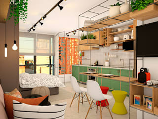 Salones de estilo  de Mariê Arquitetura, Moderno